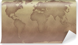 Sepia Wall Murals Enjoy The Retro Ambience Pixers - World map sepia toned