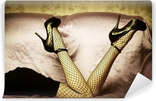 Sexy female legs in shoes Vinyl Wall Mural