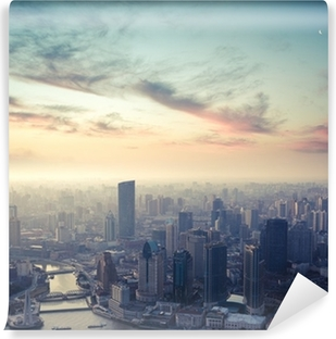 shanghai at dusk Vinyl Wall Mural
