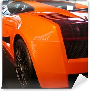 side of orange supercar Vinyl Wall Mural