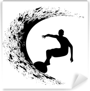 silhouettes of surfers Vinyl Wall Mural