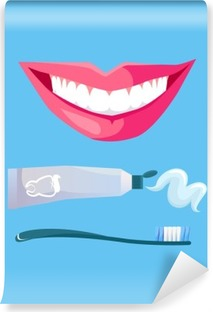 Smile with White Tooth Vinyl Wall Mural