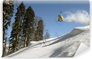Snowboard freerider Vinyl Wall Mural