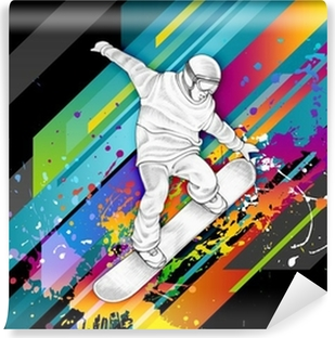 Snowboarder Vinyl Wall Mural
