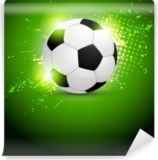 Flying soccer ball Wall Mural Pixers We live to change