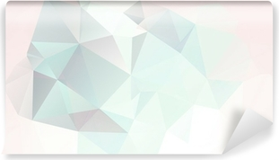 soft pastel abstract geometric background with gradients vector Vinyl Wall Mural