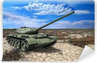 Soviet tank T-54 of 1946 year Vinyl Wall Mural