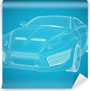 Sports car blueprint original car design wall mural pixers sports car blueprint non branded concept car vinyl wall mural malvernweather Choice Image