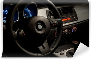 Sports car interior with dramatic nighttime lighting Vinyl Wall Mural