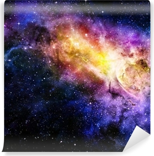 starry deep outer space nebual and galaxy Vinyl Wall Mural