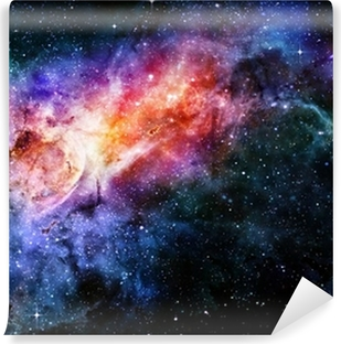 starry deep outer space nebula and galaxy Vinyl Wall Mural