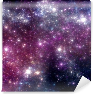 Stars background. Purple galaxy. Vinyl Wall Mural