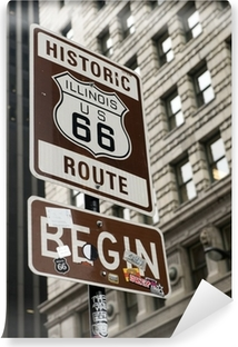 Start of Route 66, Chicago Vinyl Wall Mural