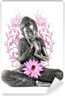 Statue de Bouddha Vinyl Wall Mural
