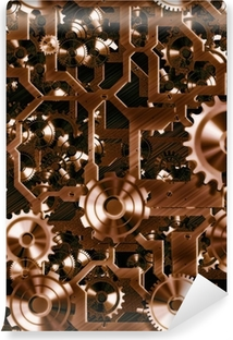 steampunk cogs and gears Vinyl Wall Mural