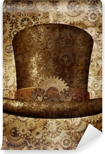 Steampunk Top Hat Vinyl Wall Mural