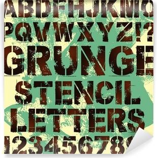 Stencil Letters Canvas Print • Pixers® • We live to change