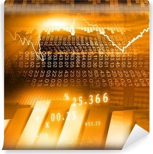 Stock Market Graph and business Bar Chart. Vinyl Wall Mural