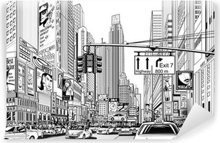 street in New York city Vinyl Wall Mural