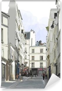 street near Montmartre in Paris Vinyl Wall Mural