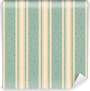 Striped background . Vector line art seamless border for design template. Decorative element for design in Eastern style. Vintage pattern for invitations, greeting cards, wallpaper, linoleum, textile. Vinyl Wall Mural