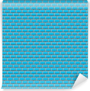Subway Tile-Blue Vinyl Wall Mural