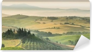 summer landscape of Tuscany, Italy. Vinyl Wall Mural