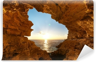Sunset into grotto Vinyl Wall Mural