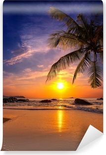 Sunset over the sea. Province Khao Lak in Thailand Vinyl Wall Mural