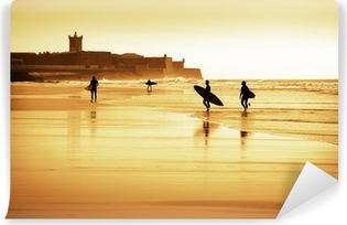 Surfers silhouettes Vinyl Wall Mural