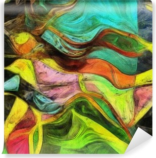 Swirling Shapes, Color and Lines Vinyl Wall Mural