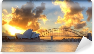 Sydney Harbour with Opera House and Bridge Vinyl Wall Mural