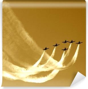 synchronized team flight- flying in formations Vinyl Wall Mural