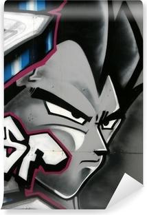 tag de personnage en couleur Vinyl Wall Mural