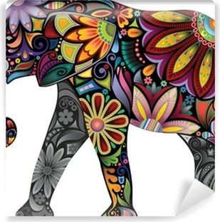 The cheerful elephant Vinyl Wall Mural