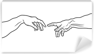 The Creation of Adam. Fragment (Outline vesion) Vinyl Wall Mural