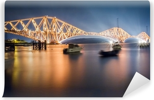 The Forth Road Bridge by night Vinyl Wall Mural