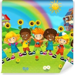The group of happy preschool kids Wall Mural Pixers We live to