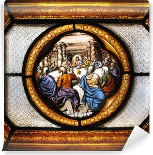 Last Supper Stained Glass window Wall Mural Pixers We live to