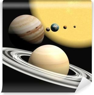 the solar system, abstact presentation. Vinyl Wall Mural