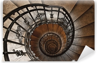 The spiral tower stairs Vinyl Wall Mural