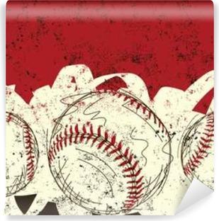 Three baseballs Vinyl Wall Mural