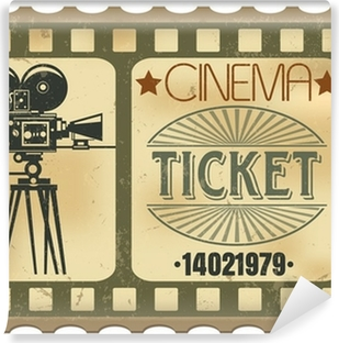 Ticket in cinema Vinyl Wall Mural