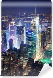 Times Square aerial view at night Vinyl Wall Mural