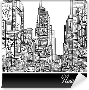 Times Square in New York Vinyl Wall Mural