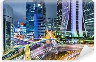 Tokyo Japan at West Shinjuku Skyscraper District Vinyl Wall Mural