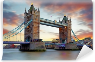 Tower Bridge in London, UK Vinyl Wall Mural