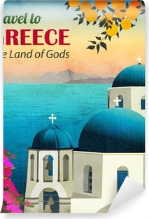 Travel to Greece Poster Vinyl Wall Mural