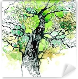 tree trunk Vinyl Wall Mural