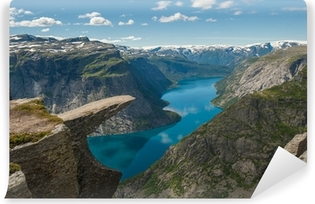 Trolltunga, Troll's tongue rock, Norway Vinyl Wall Mural